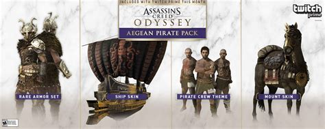Twitch Prime Assassin's Creed Odyssey loot features a