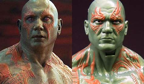 Actor Dave Bautista as Drax the Destroyer in the Guardians