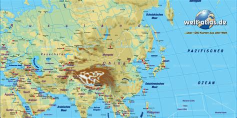 Map of Asia, map of the world physical (General Map