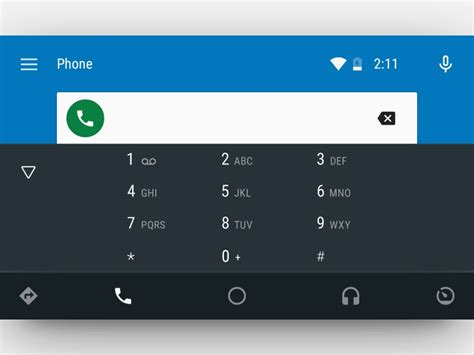 Dialer App for Android Auto by Van Mendoza on Dribbble
