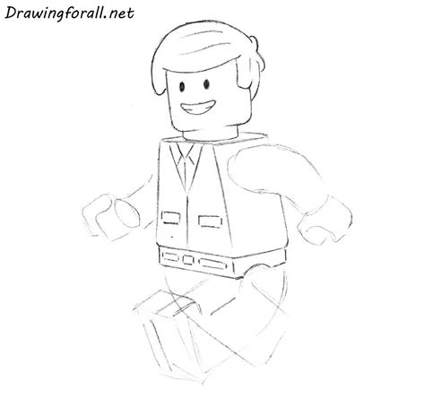 How to Draw a Lego Man | Drawingforall