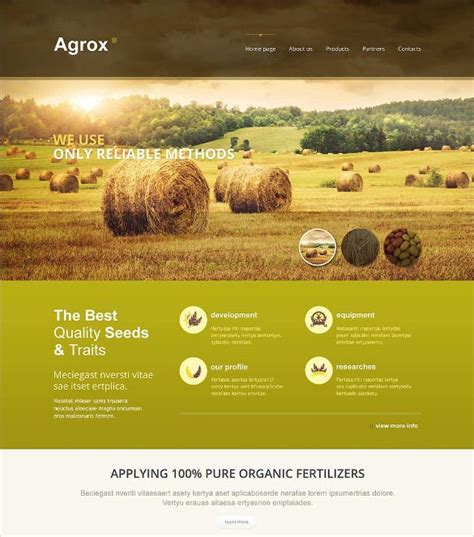 Free Agriculture Website Templates & Themes   Free