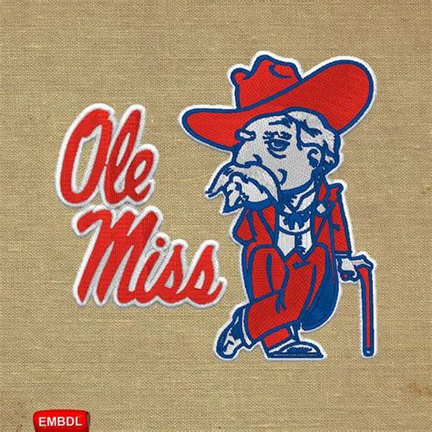 Ole Miss FBS Embroidery Design