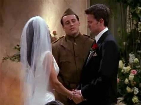 FRIENDS - Chandler and Monica's Wedding Ceremony - YouTube
