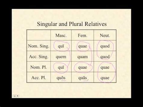 Relative Pronouns and Clauses in Latin: Part Two - YouTube