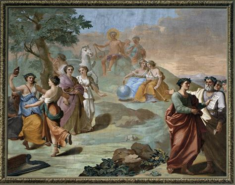 Side wall picture: Apollo, Pegasus, and the Muses by