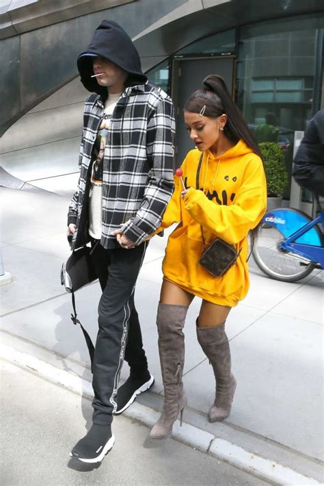 Ariana Grande Wears a Yellow Hoody Out in NYC – Celeb Donut