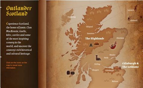 Interactive map of locations in Outlander: http://www