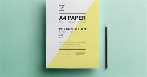 Psd A4 Overhead Paper Mock-Up - Responsive Joomla and