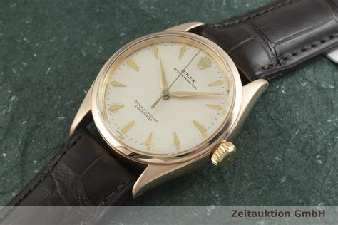 Rolex Oyster Perpetual 18k Rotgold Automatik Kal